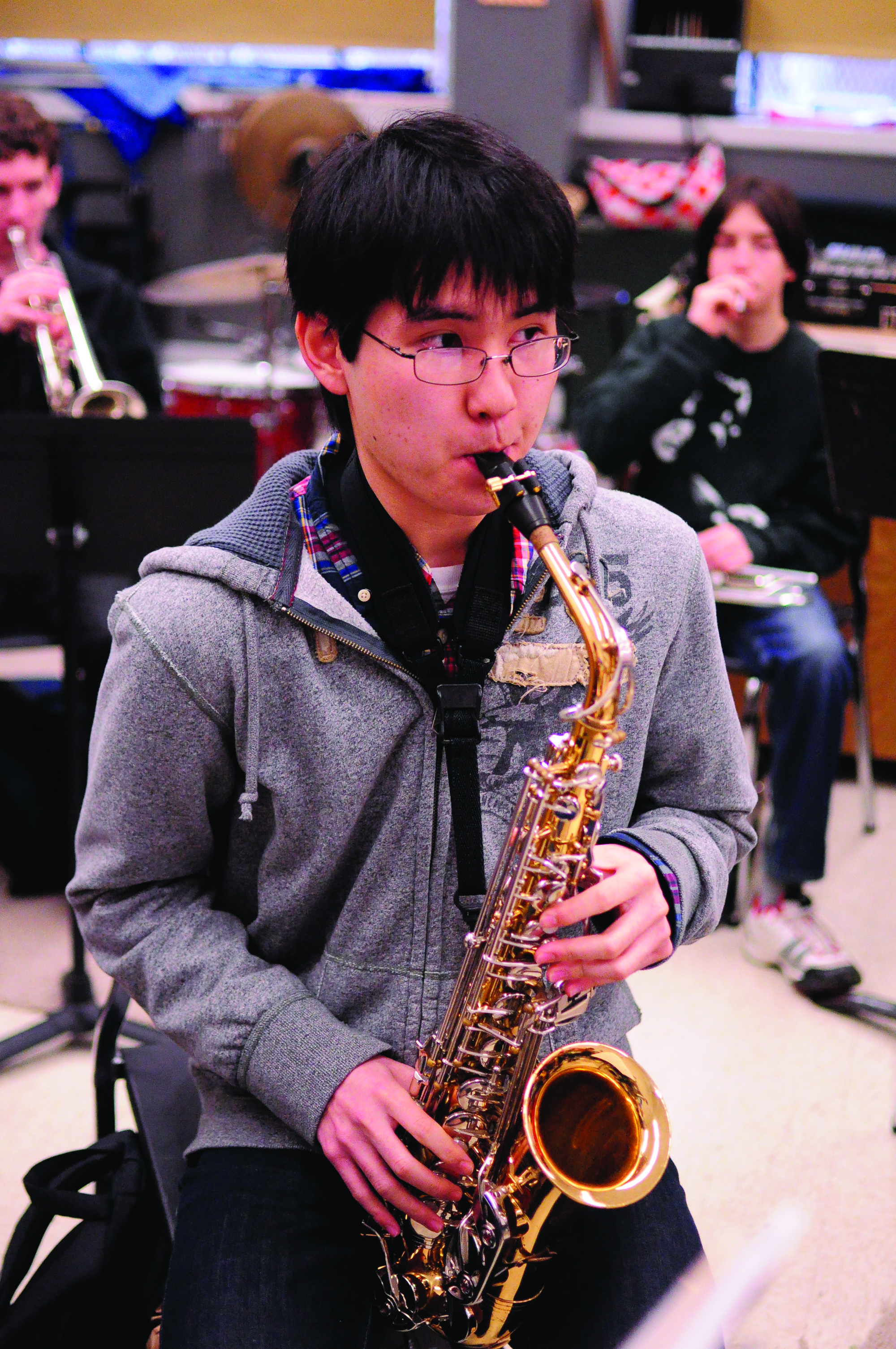 Junior Kenneth Fukumoto, a high-achieving  saxophone player, will perform in Arizona in April for the North American Saxophone Alliance's Young Artist Competition.