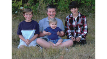 Hayden, Harrison, Zack and Henry.