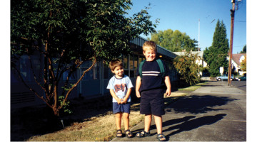 Henry and Harrison on Harrison's first day of Kindergarten.
