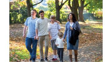 Family portraits in Wilshire Park in October 2013.