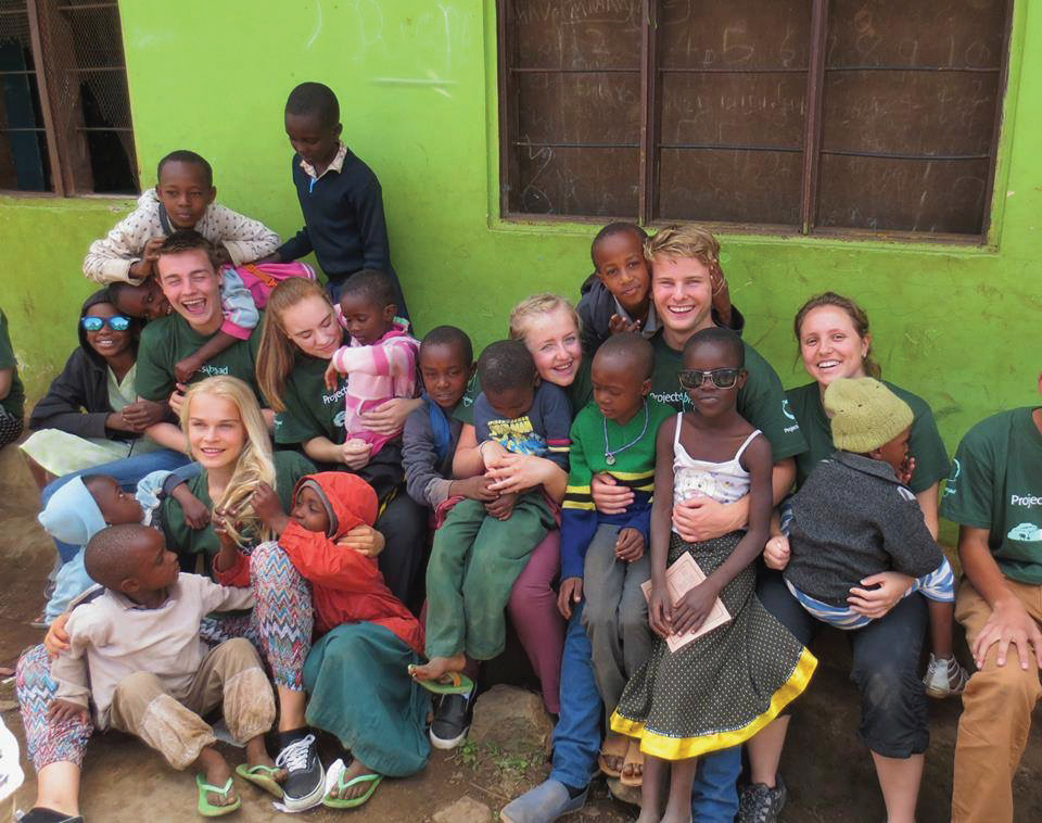 Findling spent four weeks in Arusha, Tanzania volunteering. She says her favorite part of the trip was visiting orphanages and spending time with the children.